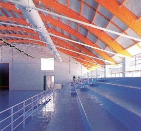 Polideportivo municipal de Cintruénigo (5)_Estructura madera