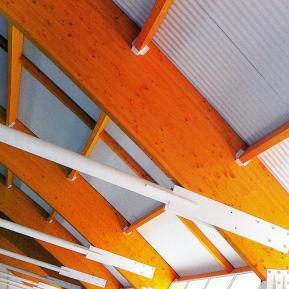 Polideportivo municipal de Cintruénigo (7)_Estructura madera